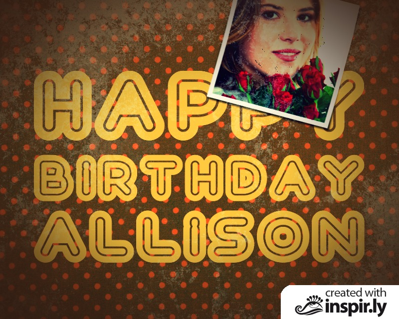Birthday-Happy Birthday Allison