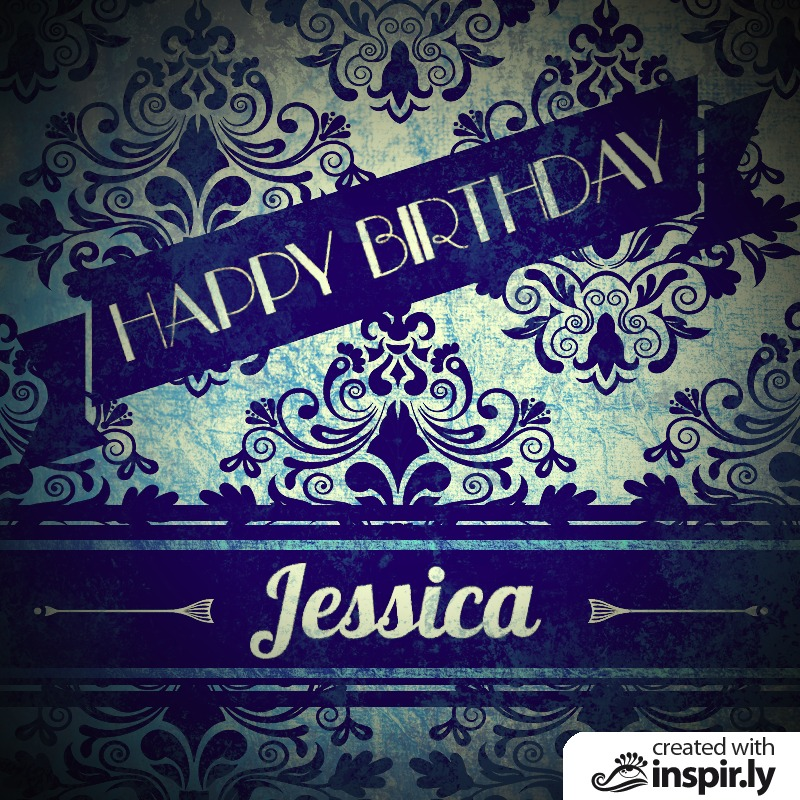 Birthday-Happy Birthday Jessica: vintage-birthday-card.inspir.ly
