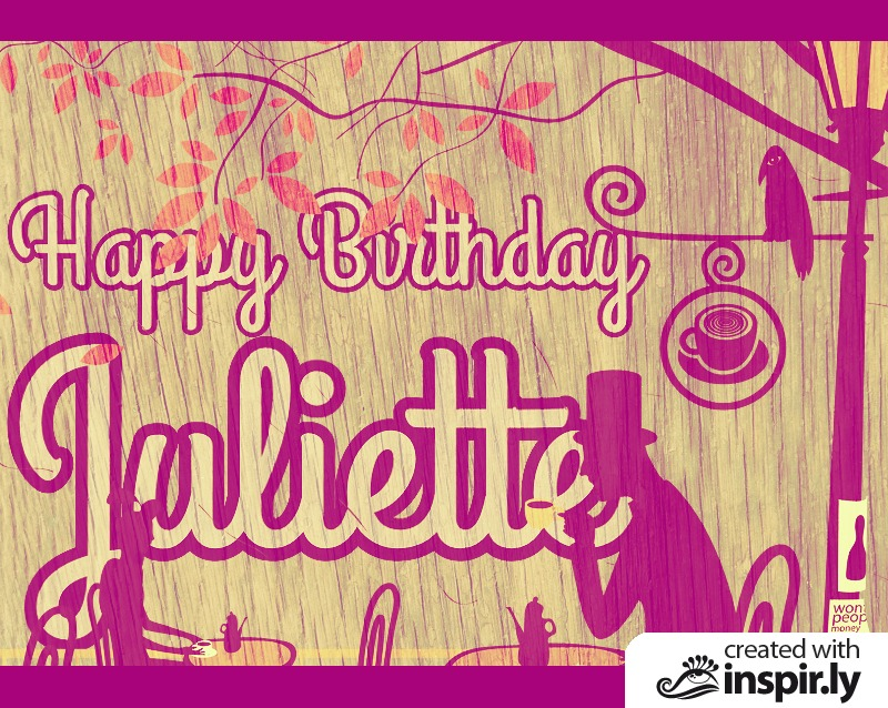Birthday-Happy Birthday Juliette